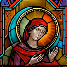 Sept 11 memorial window - Madonna (part) - Corr Chapel Villanova University - Villanova PA (USA)_crop